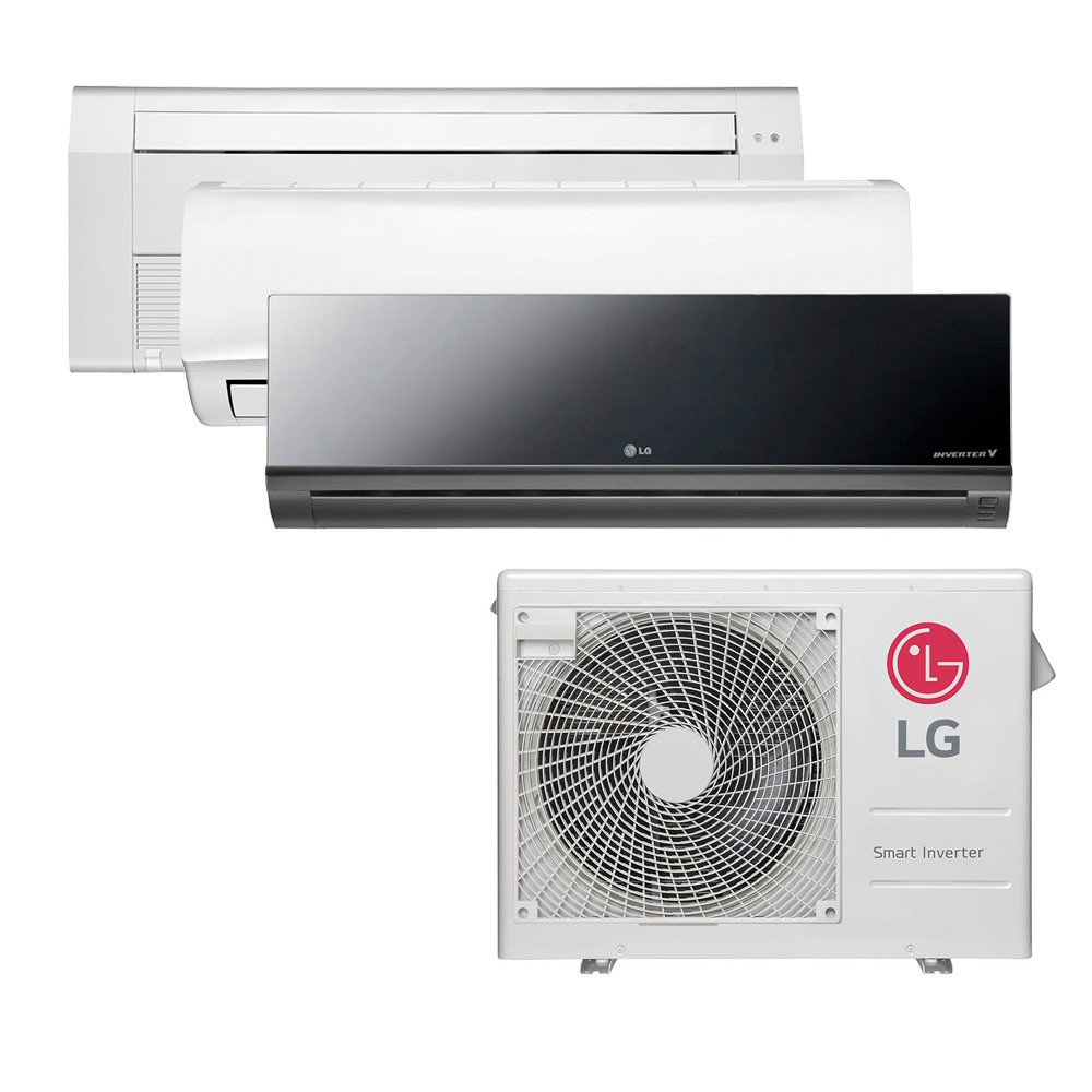 Ar Condicionado Multi Split Inverter LG 24.000 BTUS Quente/Frio 220V +1x High Wall LG Libero 7.000 BTUS +1x High Wall LG Art Cool 9.000 BTUS +1x Cassete 1 Via LG 18.000 BTUS