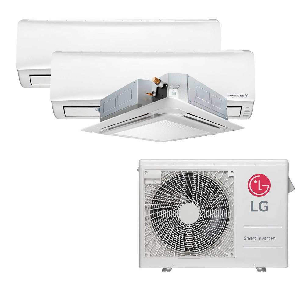 Ar Condicionado Multi Split Inverter LG 24.000 BTUS Quente/Frio 220V +1x High Wall LG Libero 7.000 BTUS +1x Cassete 4 Vias LG 9.000 BTUS +1x High Wall LG Libero 18.000 BTUS