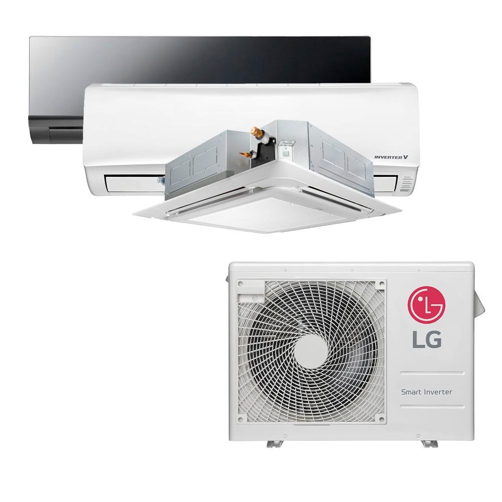 Ar Condicionado Multi Split Inverter LG 24.000 BTUS Quente/Frio 220V +1x High Wall LG Libero 7.000 BTUS +1x Cassete 4 Vias LG 9.000 BTUS +1x High Wall LG Art Cool 18.000 BTUS
