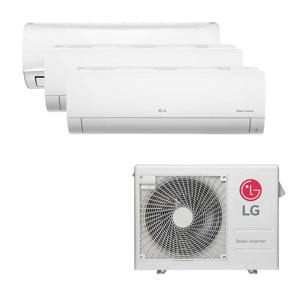 Ar Condicionado Multi Split Inverter LG 24.000 BTUS Quente/Frio 220V +1x High Wall LG Libero 7.000 BTUS +2x High Wall LG Com Display 9.000 BTUS