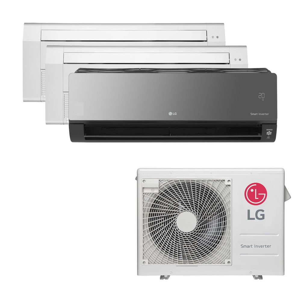 Ar Condicionado Multi Split Inverter LG 24.000 BTUS Quente/Frio 220V +2x Cassete 1 Via LG 12.000 BTUS +1x High Wall LG Art Cool com Display e Wi-Fi 12.000 BTUS