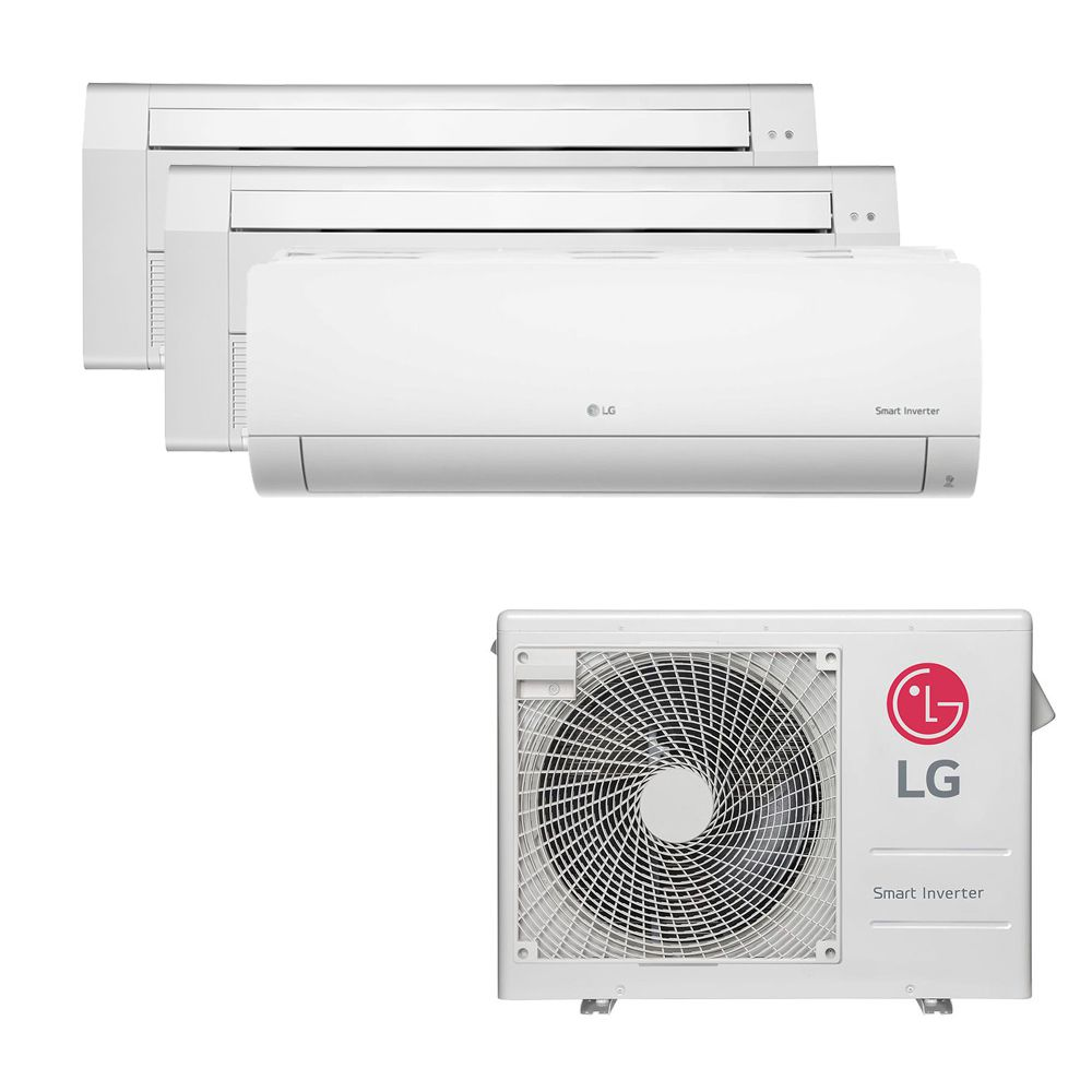 Ar Condicionado Multi Split Inverter LG 24.000 BTUS Quente/Frio 220V +2x Cassete 1 Via LG 9.000 BTUS +1x High Wall LG Com Display 9.000 BTUS