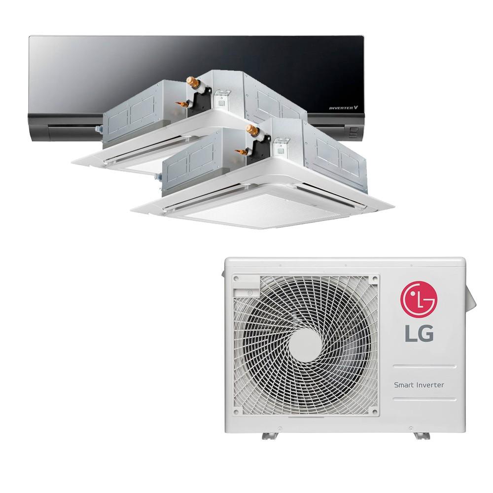 Ar Condicionado Multi Split Inverter LG 24.000 BTUS Quente/Frio 220V +2x Cassete 4 Vias LG 9.000 BTUS +1x High Wall LG Art Cool 12.000 BTUS