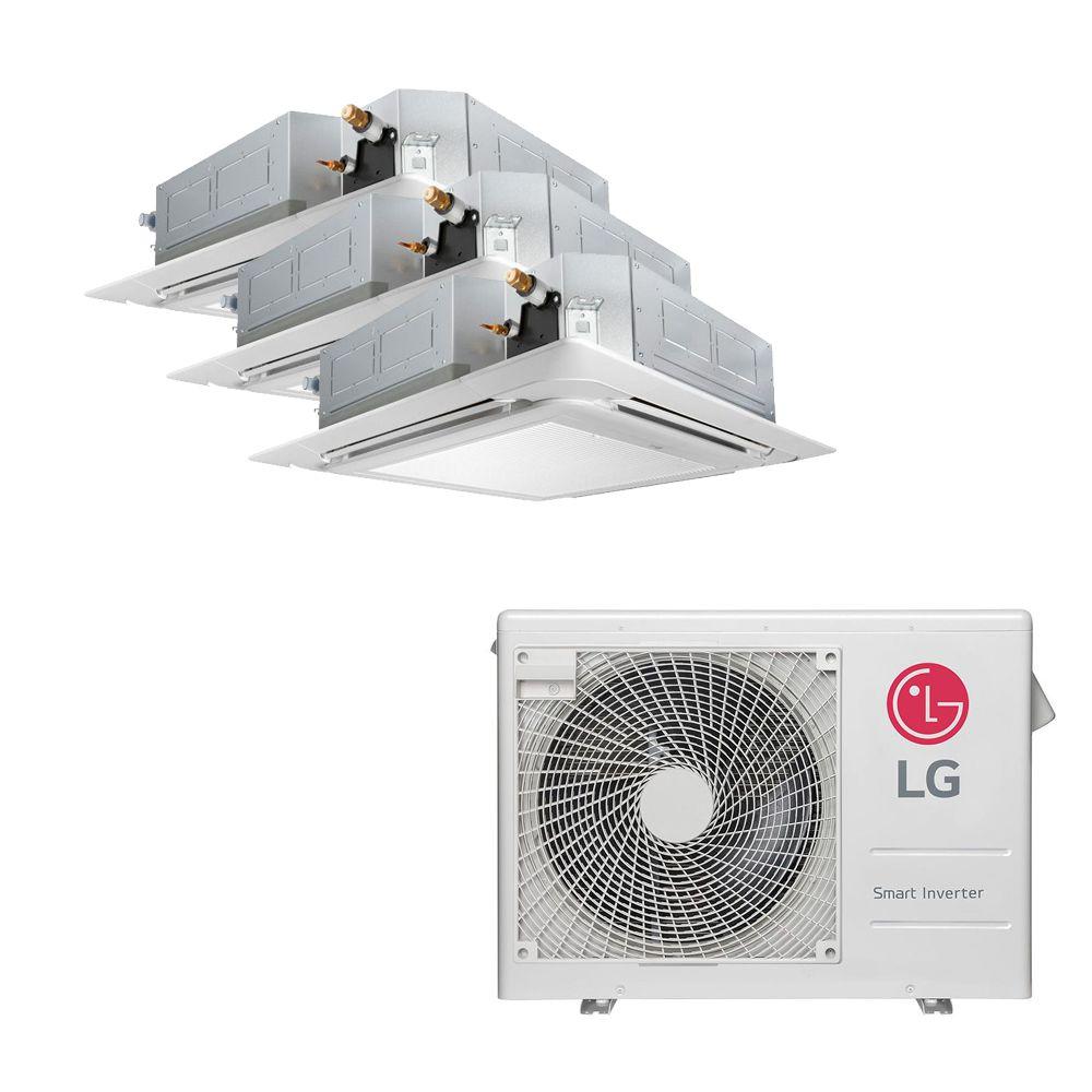 Ar Condicionado Multi Split Inverter LG 24.000 BTUS Quente/Frio 220V +2x Cassete 4 Vias LG 9.000 BTUS +1x Cassete 4 Vias LG 18.000 BTUS