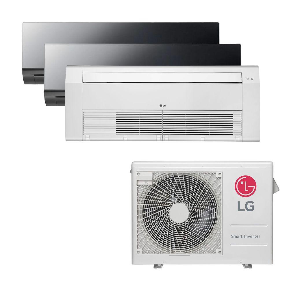 Ar Condicionado Multi Split Inverter LG 24.000 BTUS Quente/Frio 220V +2x High Wall LG Art Cool 9.000 BTUS +1x Cassete 1 Via LG 12.000 BTUS
