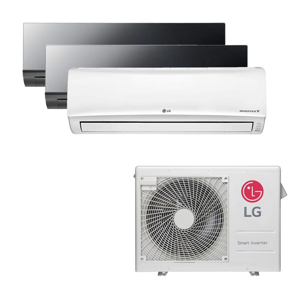 Ar Condicionado Multi Split Inverter LG 24.000 BTUS Quente/Frio 220V +2x High Wall LG Art Cool 9.000 BTUS +1x High Wall LG Libero 18.000 BTUS