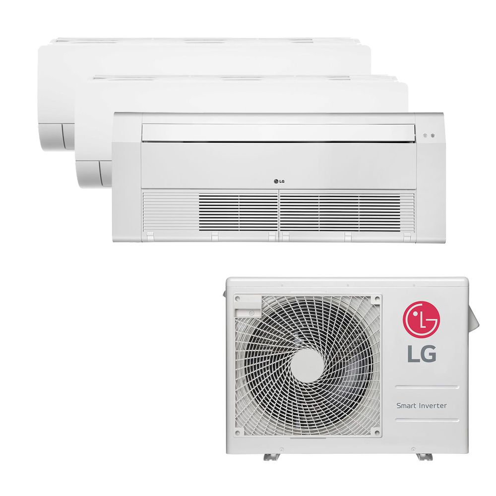 Ar Condicionado Multi Split Inverter LG 24.000 BTUS Quente/Frio 220V +2x High Wall LG Com Display 9.000 BTUS +1x Cassete 1 Via LG 12.000 BTUS