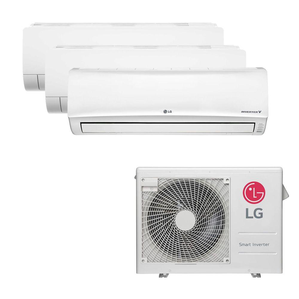Ar Condicionado Multi Split Inverter LG 24.000 BTUS Quente/Frio 220V +2x High Wall LG Com Display 9.000 BTUS +1x High Wall LG Libero 18.000 BTUS