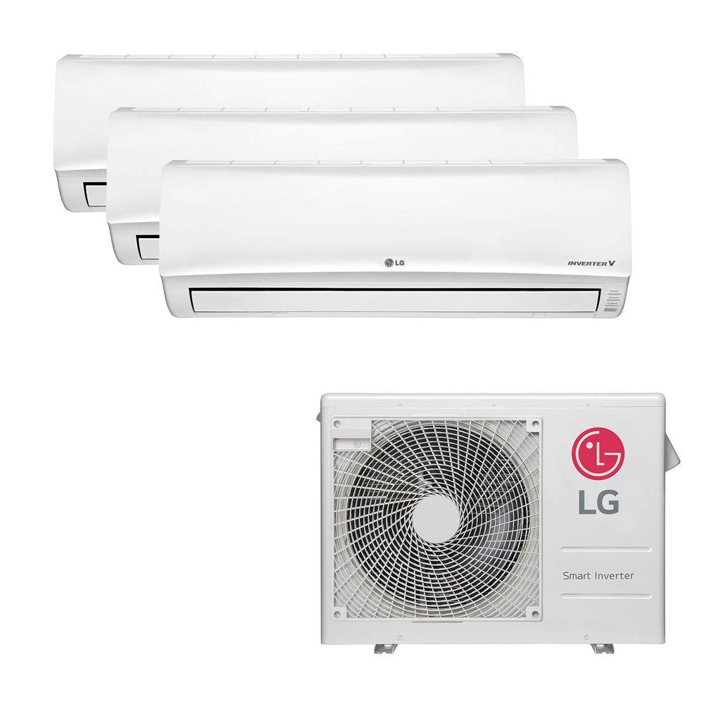 Ar Condicionado Multi Split Inverter LG 24.000 BTUS Quente/Frio 220V +2x High Wall LG Libero 7.000 BTUS +1x High Wall LG Libero 18.000 BTUS