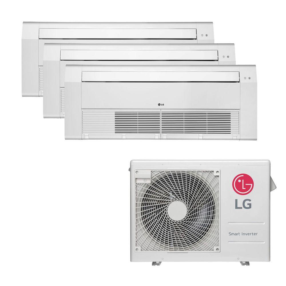 Ar Condicionado Multi Split Inverter LG 24.000 BTUS Quente/Frio 220V +3x Cassete 1 Via LG 9.000 BTUS