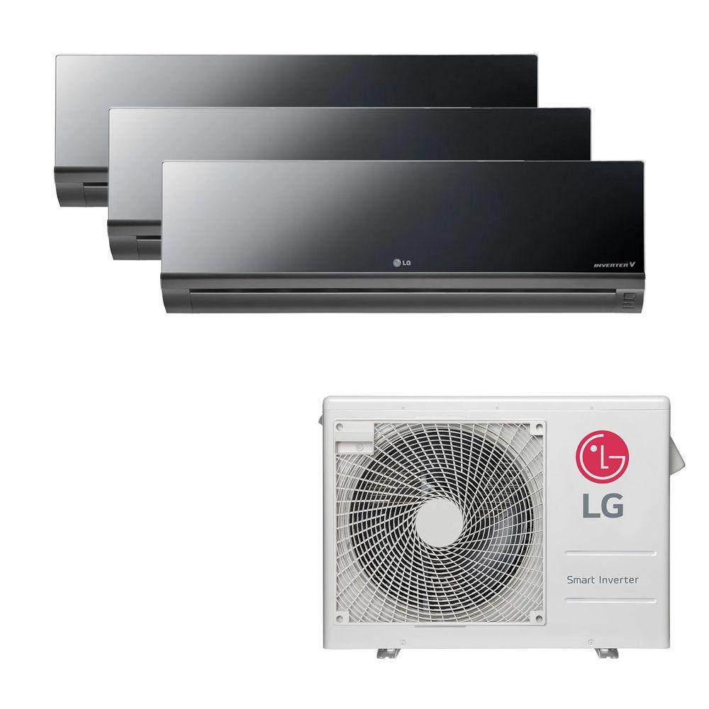 Ar Condicionado Multi Split Inverter LG 24.000 BTUS Quente/Frio 220V +3x High Wall LG Art Cool 12.000 BTUS