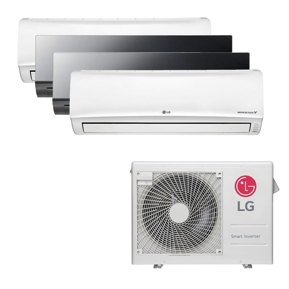 Ar Condicionado Multi Split Inverter LG 30.000 BTUS Quente/Frio 220V +1x High Wall LG Libero 7.000 BTUS +2x High Wall LG Art Cool 9.000 BTUS +1x High Wall LG Libero 18.000 BTUS