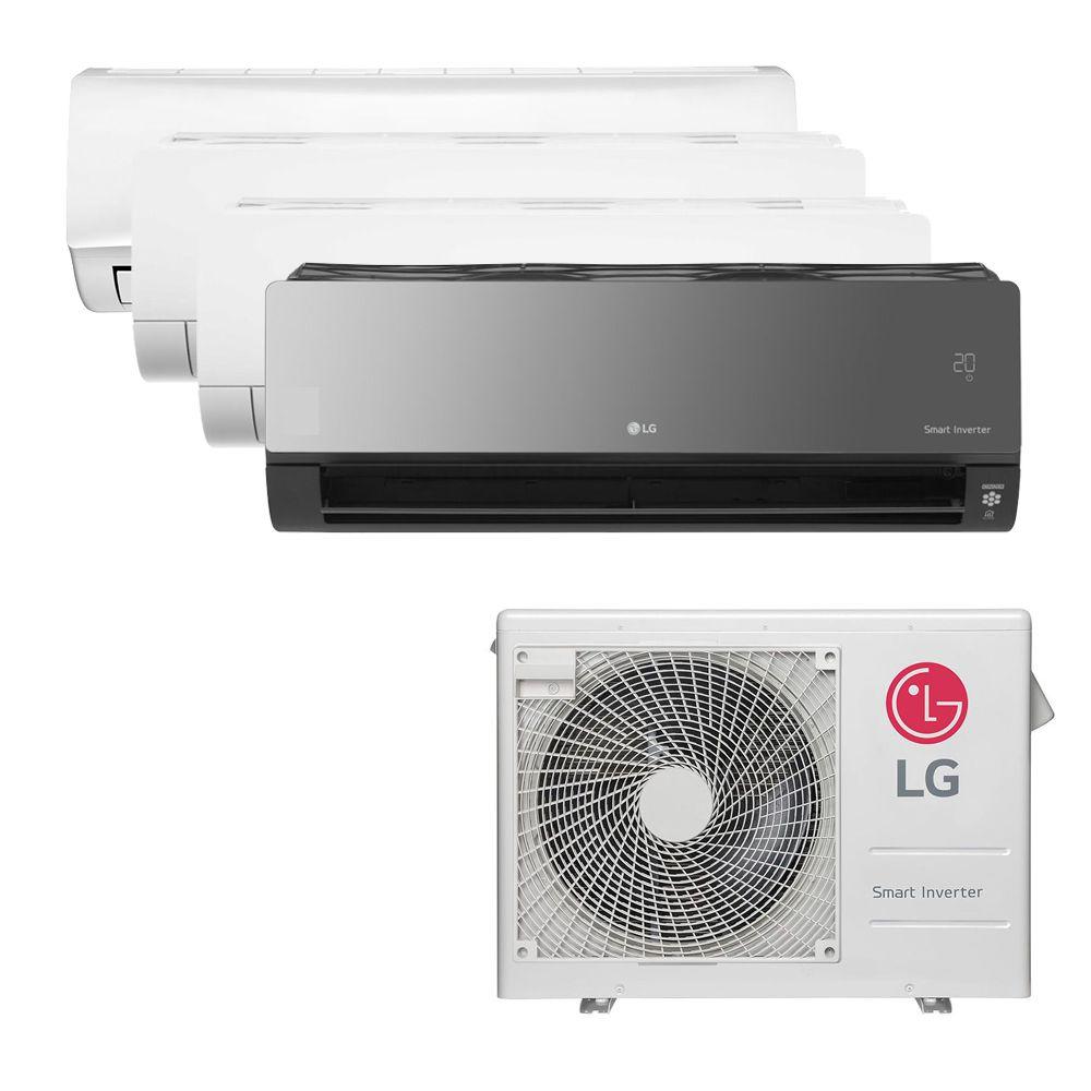 Ar Condicionado Multi Inverter LG 30.000 BTUS Q/F 220V +1x High Wall Libero 7.000 BTUS +2x High Wall LG Com Display 9.000 BTUS +1x High Wall Art Cool Display+Wi-Fi 12.000 BTU