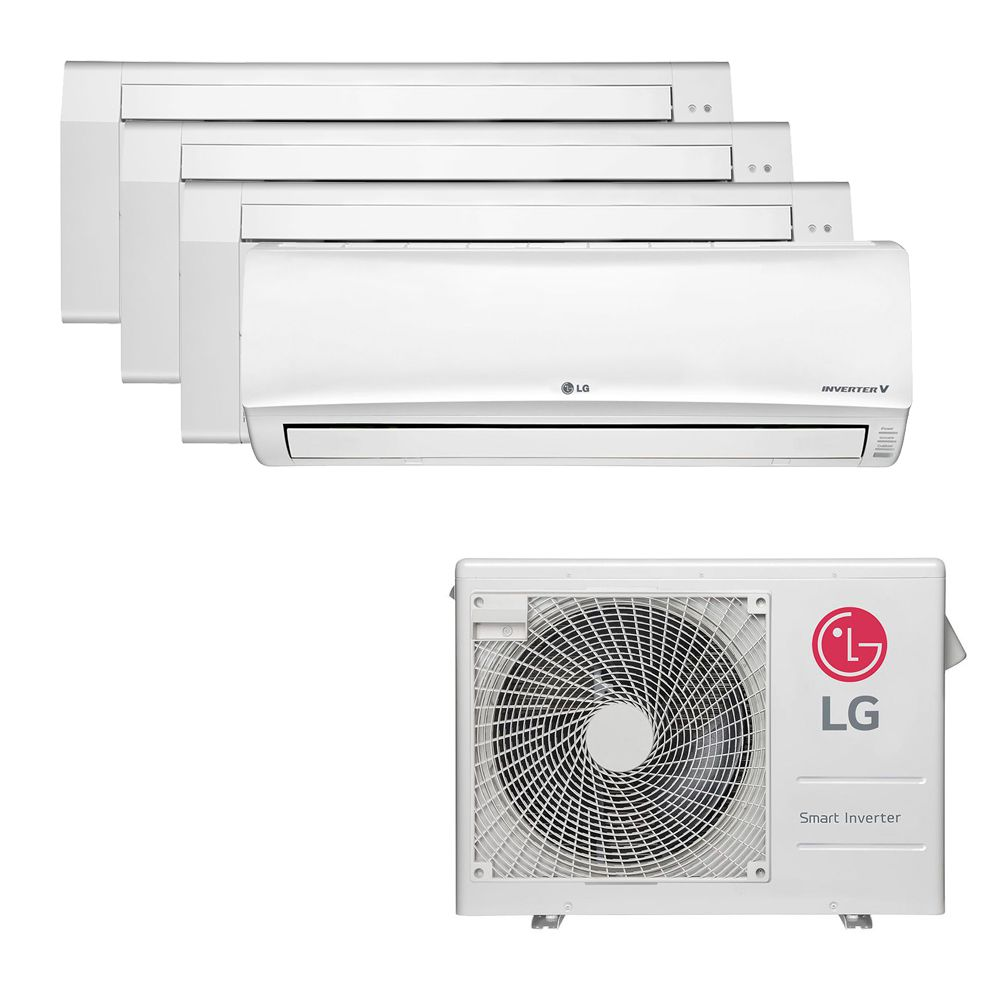 Ar Condicionado Multi Split Inverter LG 30.000 BTUS Quente/Frio 220V +2x Cassete 1 Via LG 9.000 BTUS +1x Cassete 1 Via LG 12.000 BTUS +1x High Wall LG Libero 18.000 BTUS