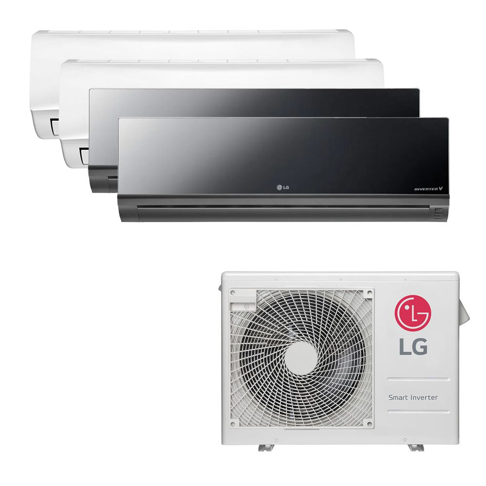 Ar Condicionado Multi Split Inverter LG 30.000 BTUS Quente/Frio 220V +2x High Wall LG Libero 7.000 BTUS +2x High Wall LG Art Cool 9.000 BTUS