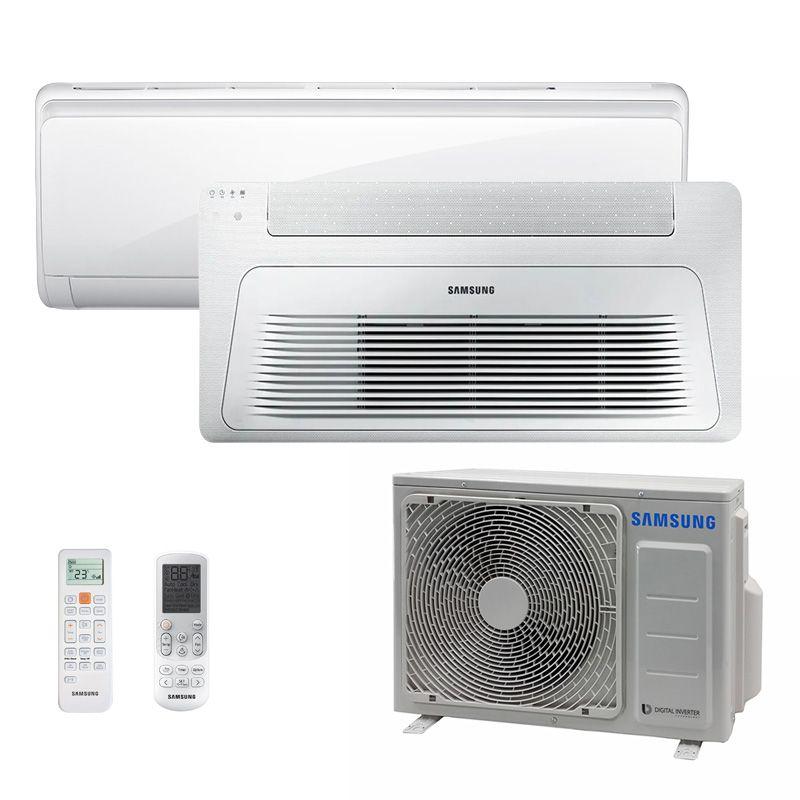 Ar Condicionado Multi Split Inverter Samsung FJM 17.000 BTUS Quente/Frio 220V + 1x Cassete 1 Via Wind Free 9.000 BTUS + 1x High Wall Maldives 9.000 BTUS