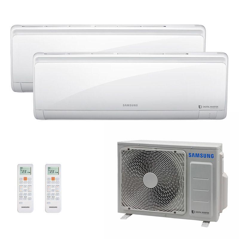 Ar Condicionado Multi Split Inverter Samsung FJM 17.000 BTUS Quente/Frio 220V + 2x High Wall Maldives 12.000 BTUS