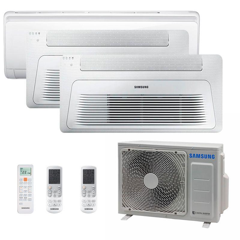 Ar Condicionado Multi Split Inverter Samsung FJM 23.000 BTUS Q/F 220V+1x High Wall Maldives 12.000 BTUS+1x Cassete 1 Via Wind Free 9.000 BTUS+1x Cassete 1 Via Wind Free 12.000 BTUS