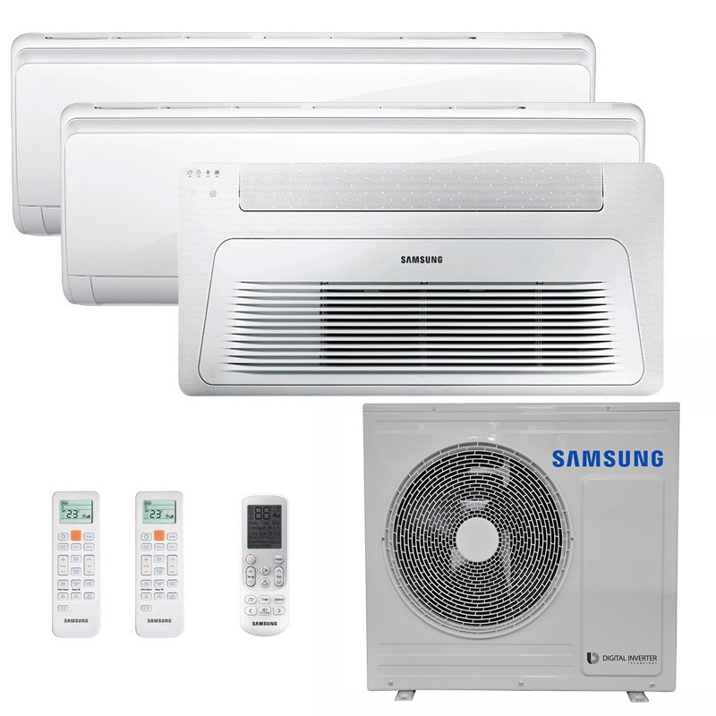 Ar Condicionado Multi Split Inverter Samsung FJM 28.000 BTUS Q/F 220V +1x Cassete 1 Via Wind Free 12.000 BTUS +2x High Wall Maldives 12.000 BTUS