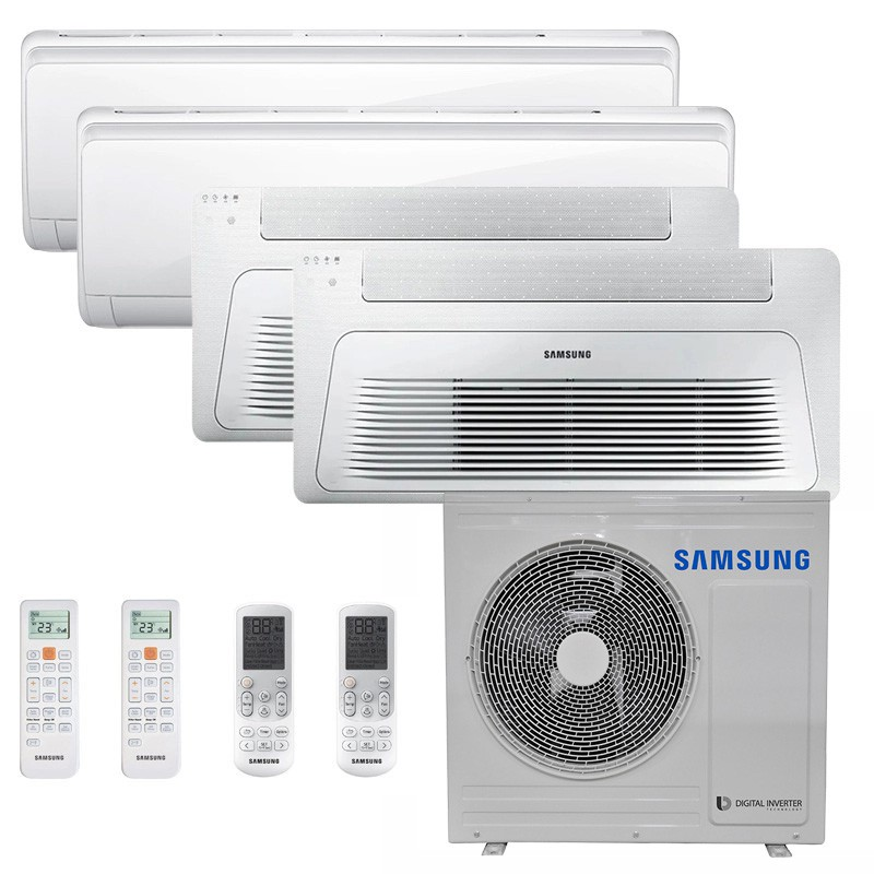 Ar Condicionado Multi Split Inverter Samsung FJM 28.000 BTUS Q/F 220V +2x High Wall Maldives 9.000 BTUS +2x Cassete 1 Via Wind Free 12.000 BTUS