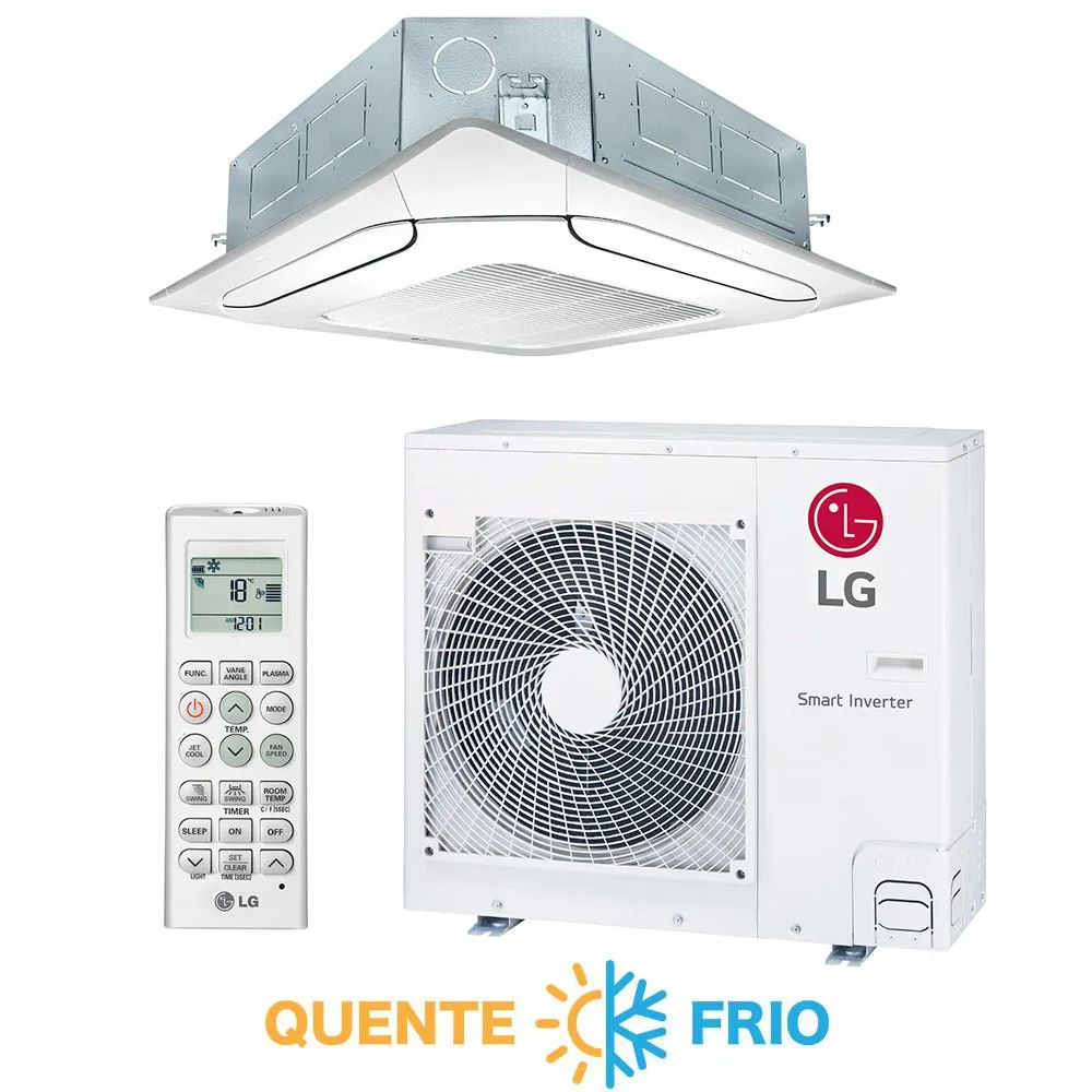 Ar Condicionado Split Cassete Inverter LG 24.000 BTUs Quente/Frio 220v
