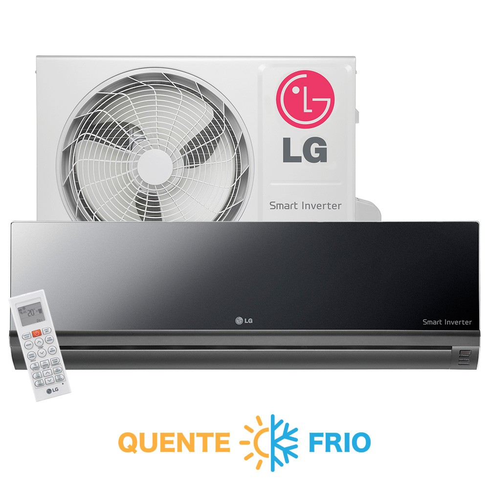 Ar Condicionado Split High Wall Inverter LG Libero Art Cool 18.000 BTUs Quente/Frio 220v