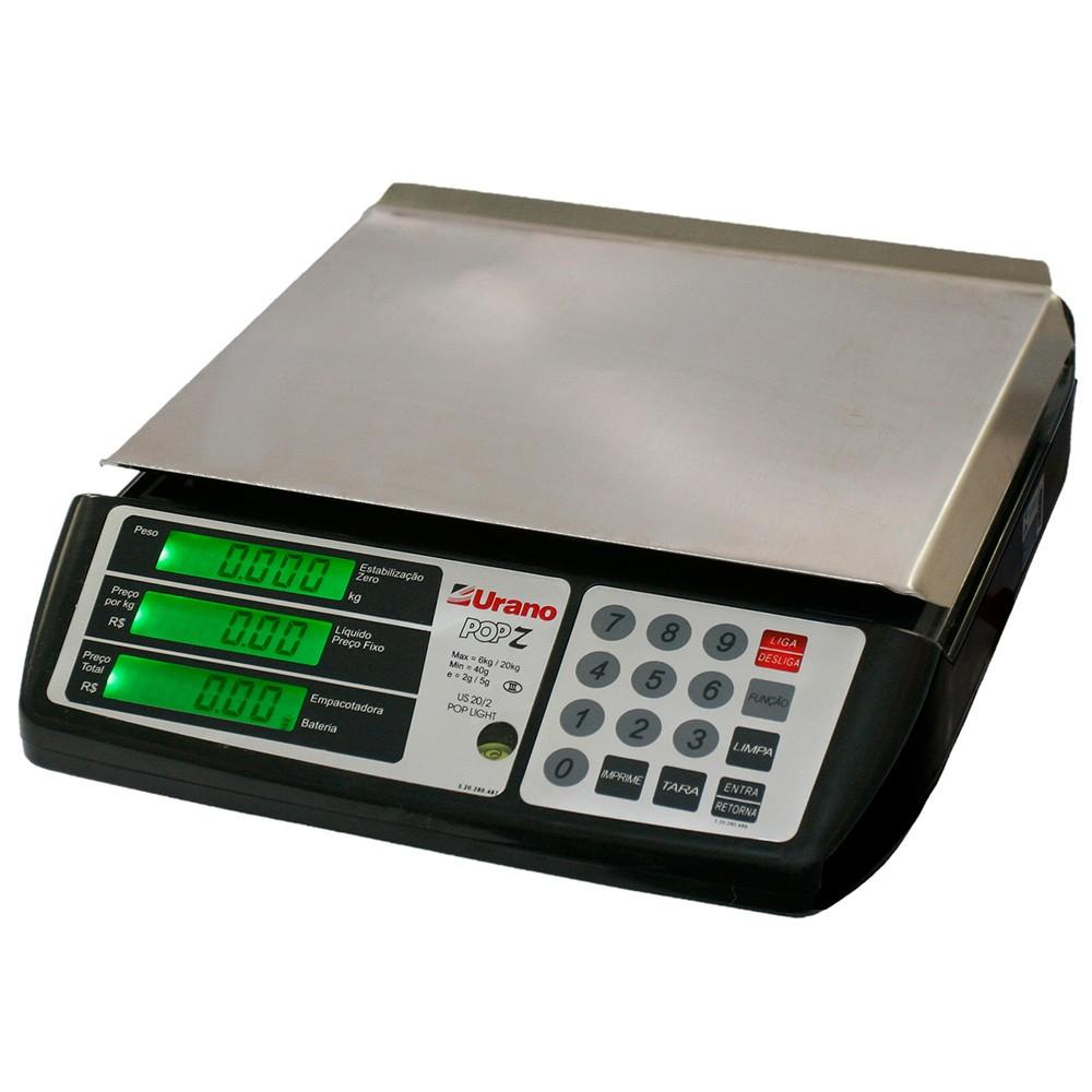 Balança Digital Computadora Urano US Pop-Z 20 Kg com Bateria