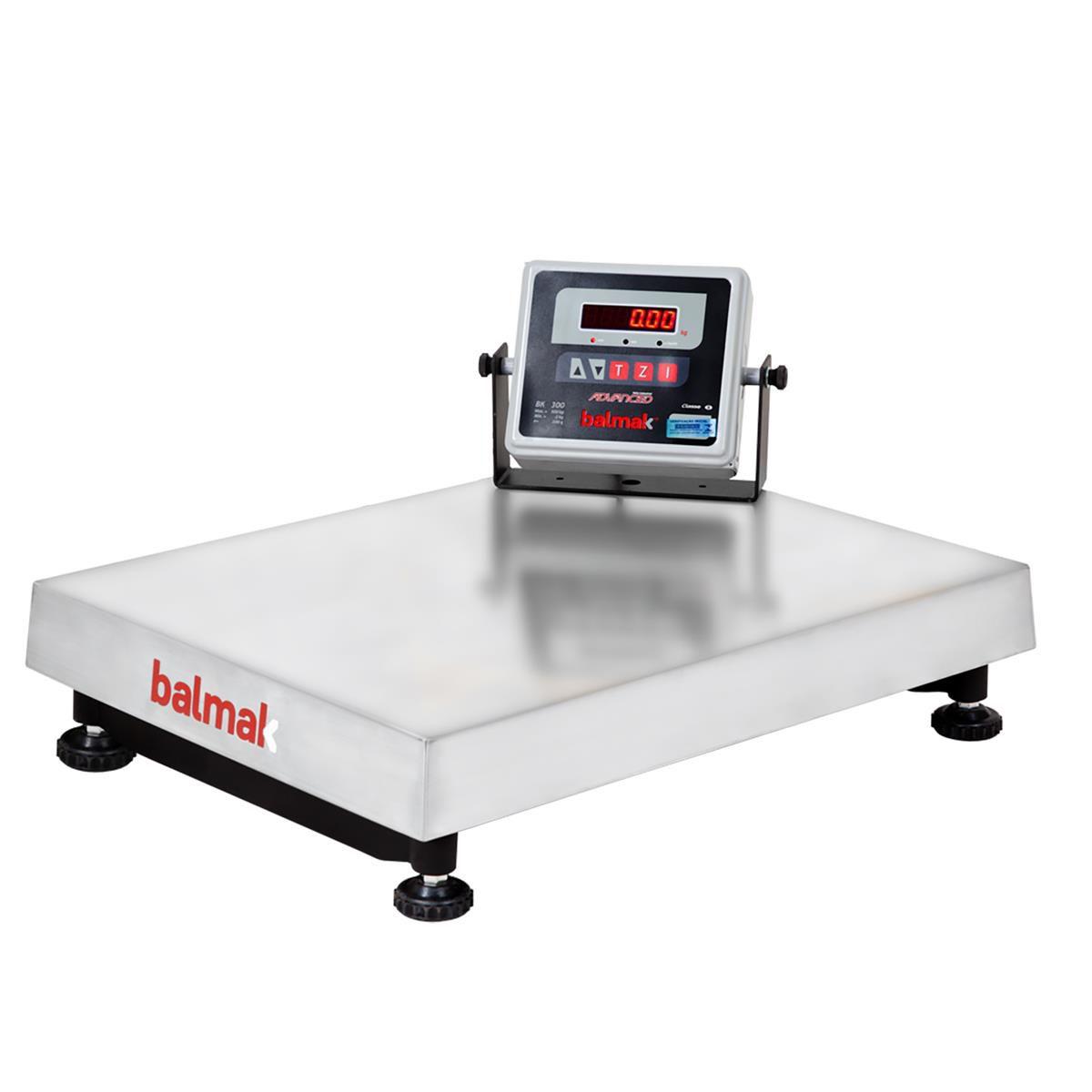 Balança Digital Balmak Plataforma 300Kg Inox com Bateria BK-300I1B