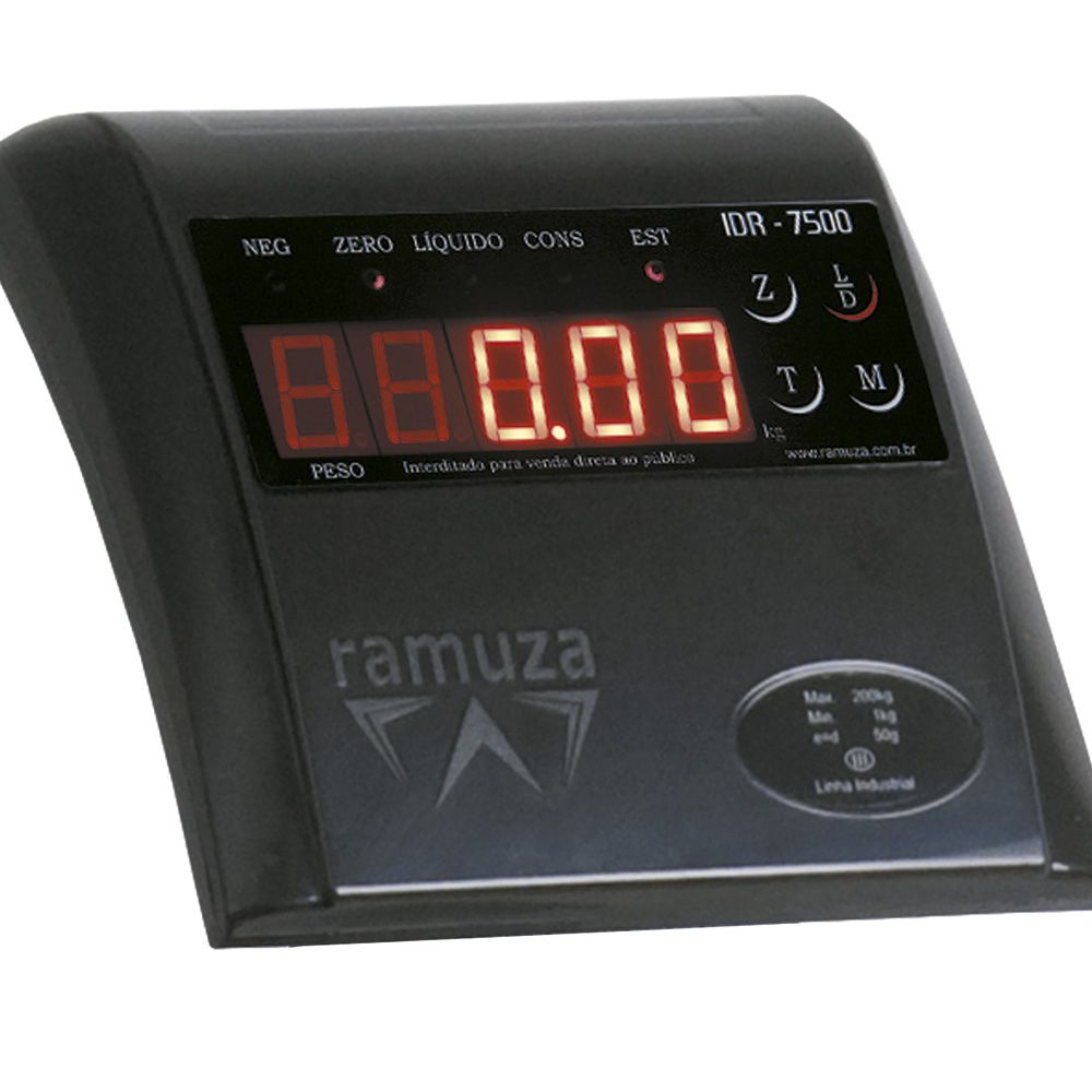 Balança Digital Ramuza Plataforma 50 Kg DP50 Bivolt