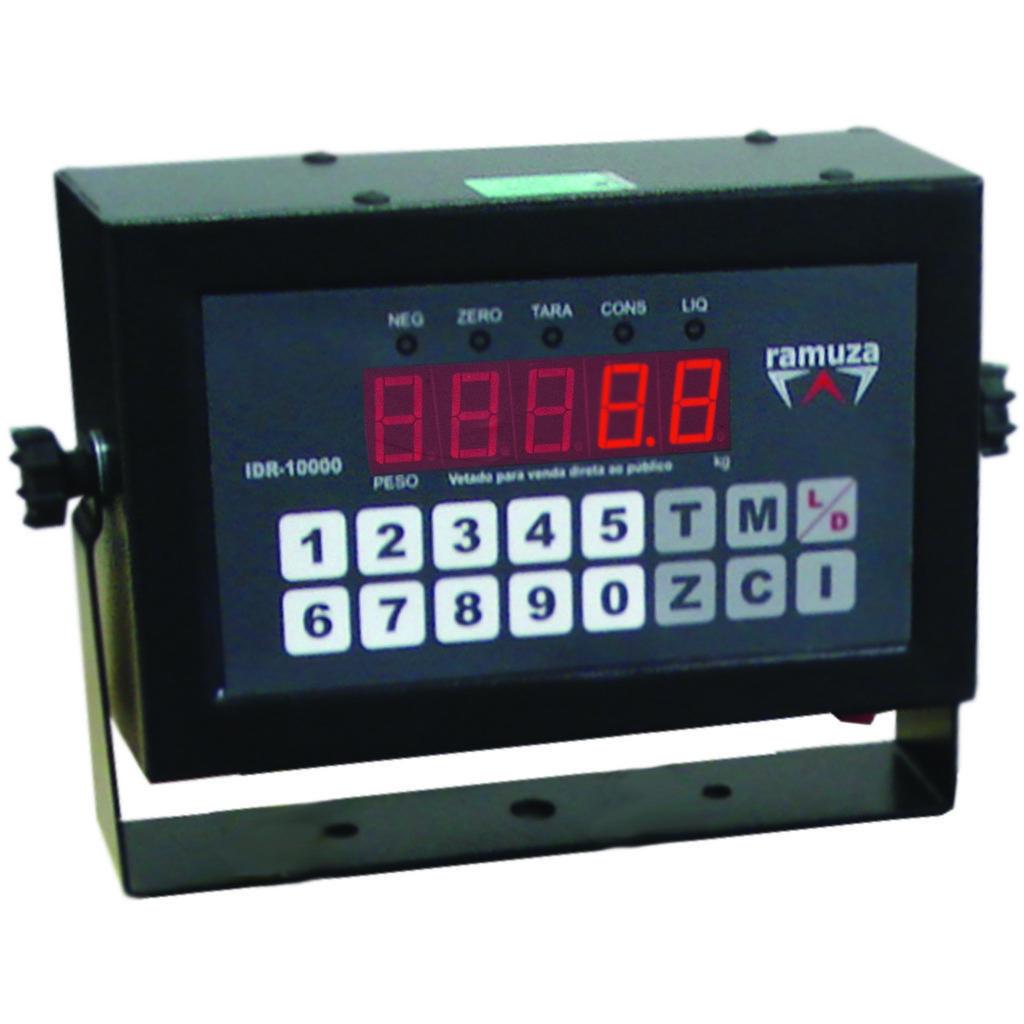 Balança Digital Plataforma Inox Com Bateria 300Kg Bivolt DPB300 Ramuza