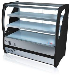 Balcão Vitrine Confeitaria Refrigerado Inox 365L 125,0cm 220v Preto BVRTC-125 Polar