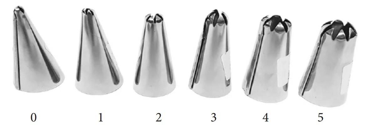 Bico Pitanga Para Confeitar N°1 Em Aço Inoxidável BC-18 RSPan