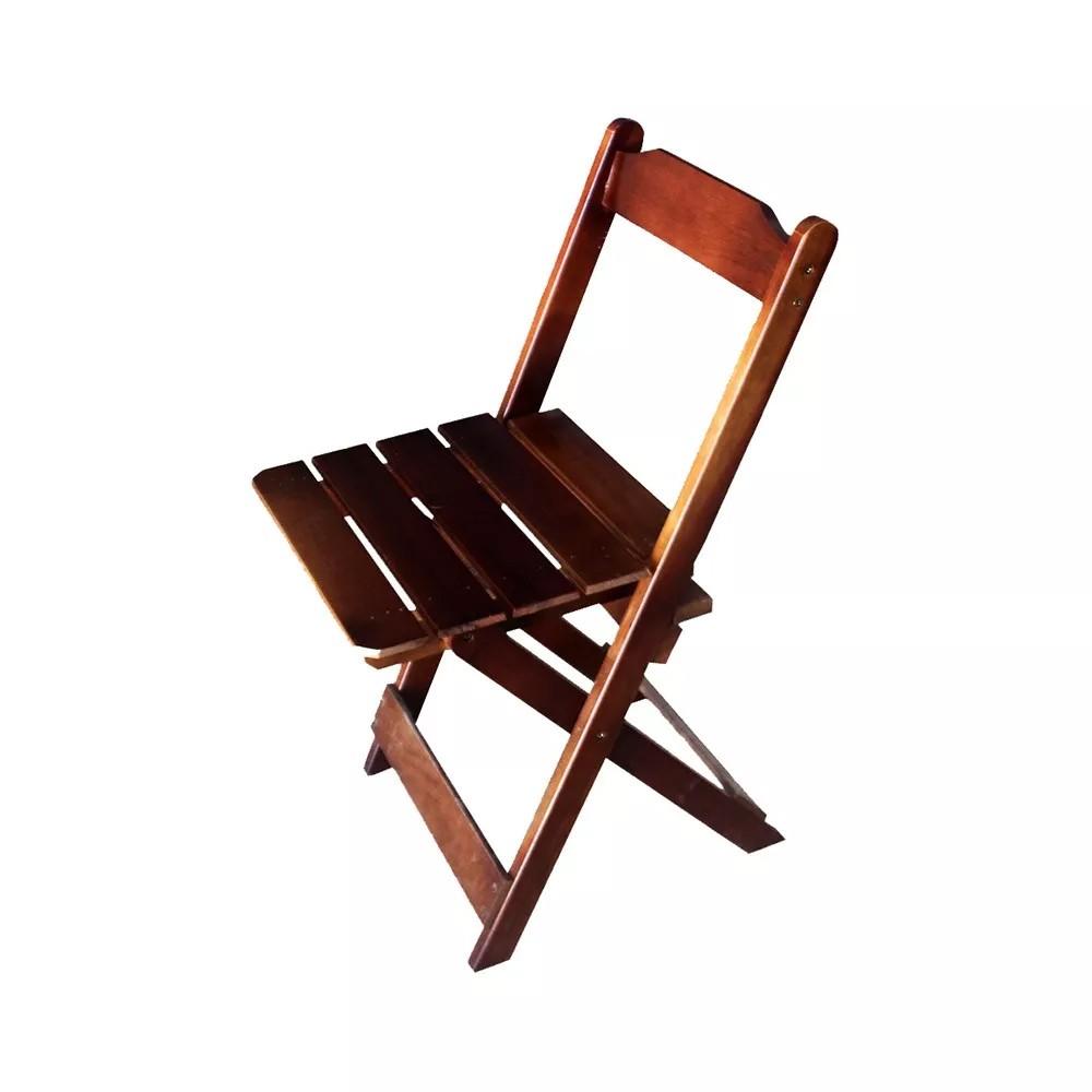 Cadeira Maplan Dobrável Madeira Maciça Imbuia