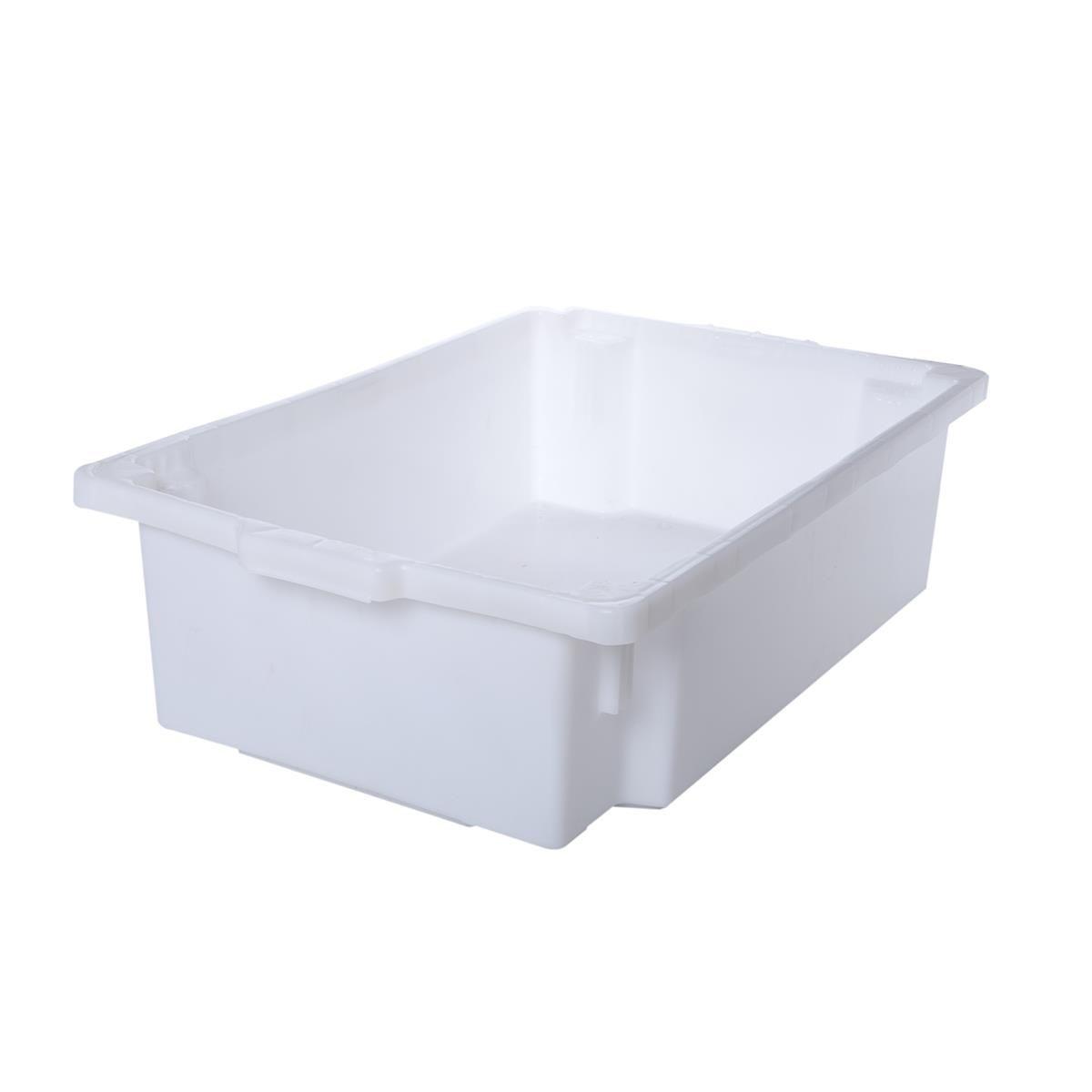 Caixa Organizadora Plástica Reforçada Com Tampa Supercron S-650 Branca 15,5 Litros