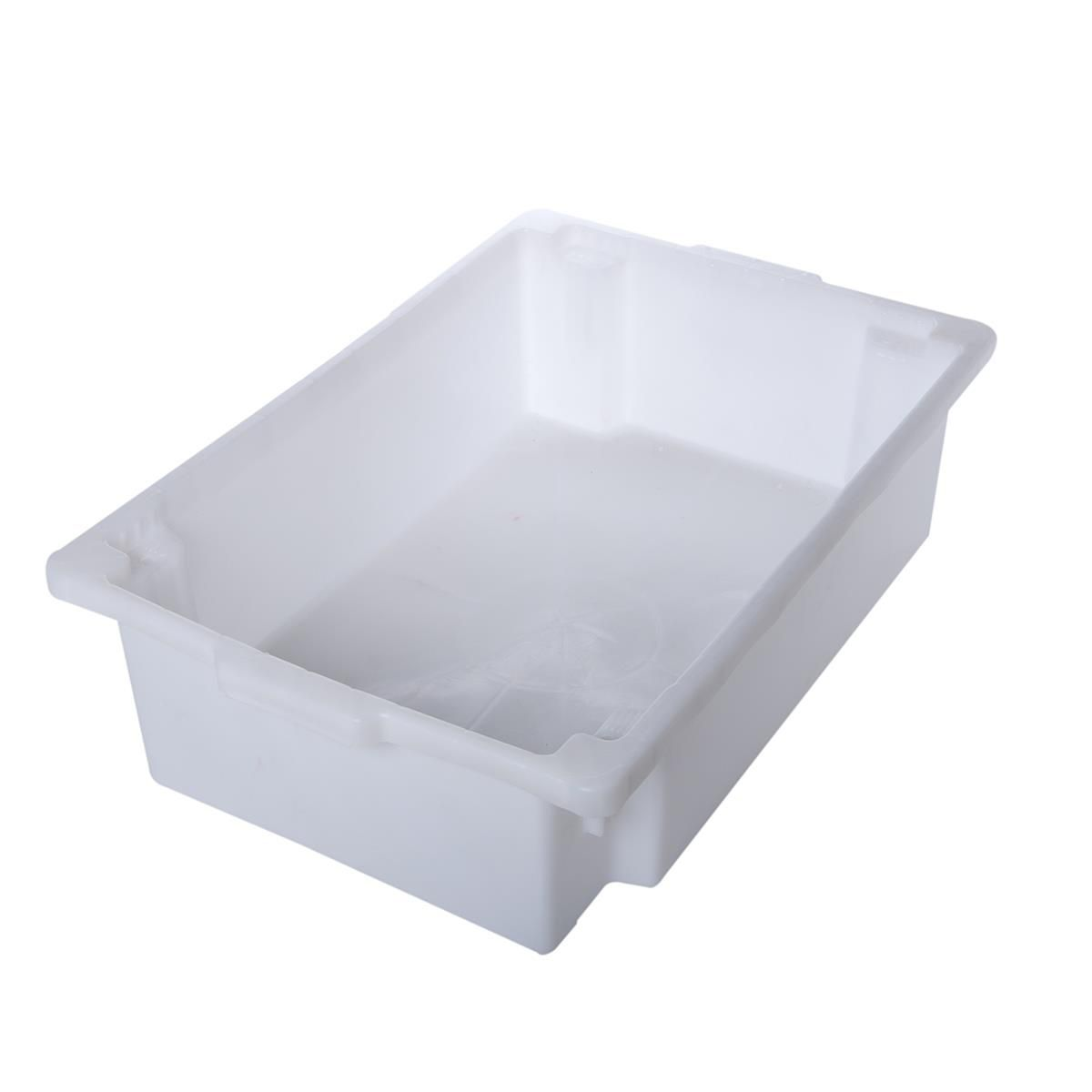 Caixa Organizadora Plástica Reforçada Com Tampa Supercron S-800 Branca 25 Litros