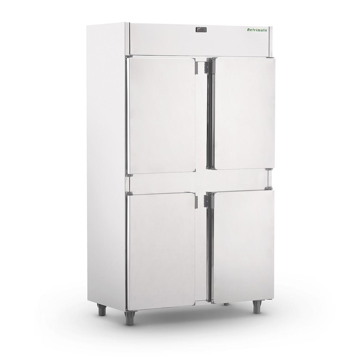 Câmara Fria Refrimate Plus MC4PP 800 Litros para Resfriados Inox 4 Portas 220V