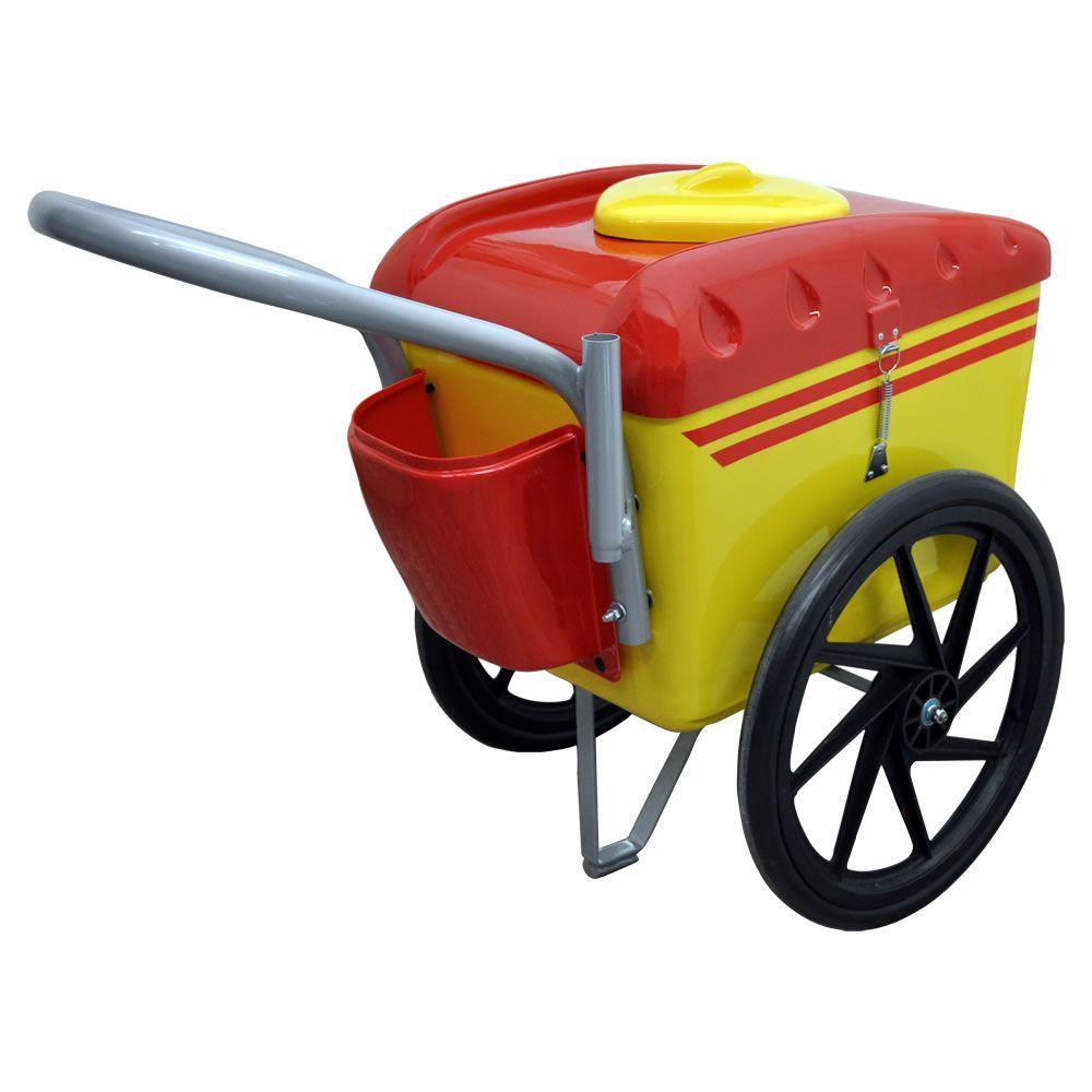 Carrinho De Picolé & Sorteve 300 Unidades Amarelo Vermelho T-350 Thermototal