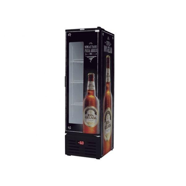 Cervejeira Fricon Vertical 284 Litros Frost Free 1 Porta de Chapa com Visor 220V
