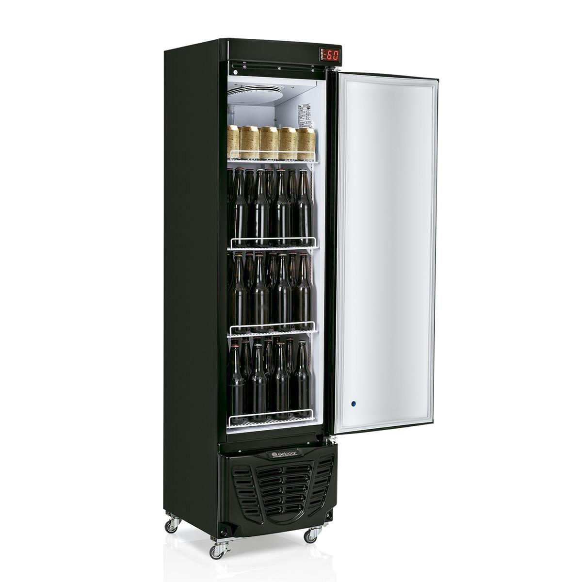 Cervejeira Vertical Adesivada 230 Litros 1 Porta 220v Gelopar