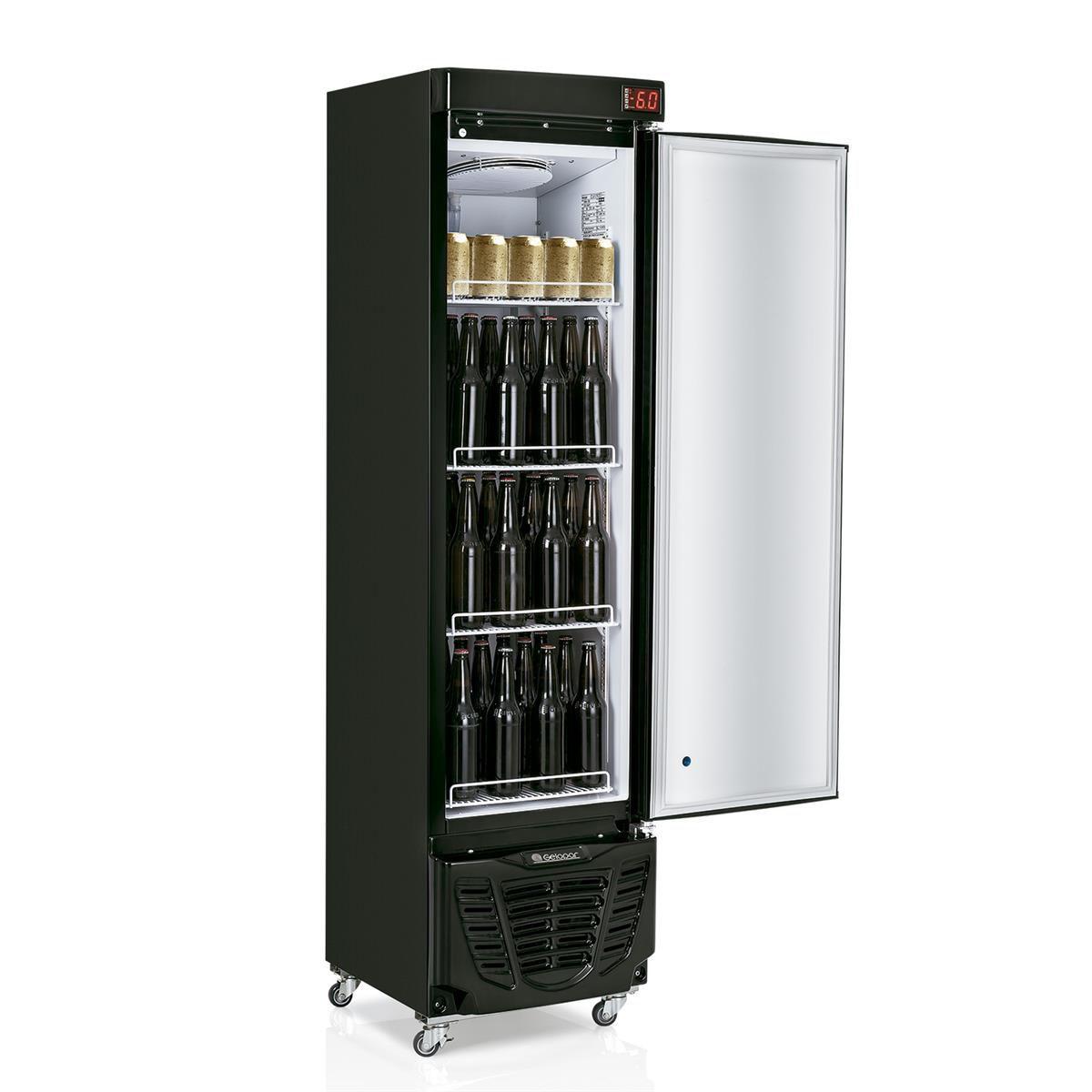 Cervejeira Gelopar Vertical 230 Litros 1 Porta Inox GRBA-230E 220V