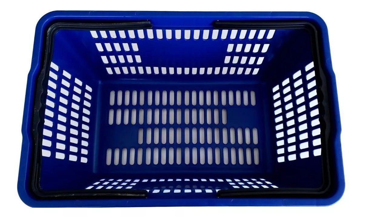 Cesta Plástica Para Mercados Della Plast D-100 Azul 16 Litros