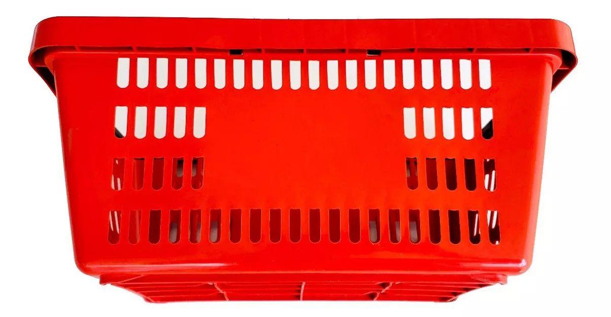 Cesta Plástica Para Mercados Della Plast D-100 Vermelho 16 Litros