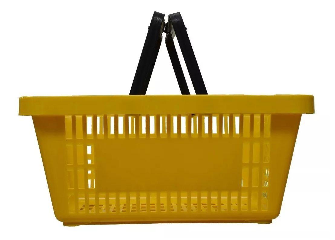 Cesta Plástica Para Mercados Della Plast D-50 Amarelo 6,5 Litros