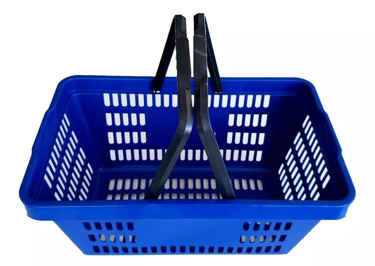 Cesta Plástica Para Mercados Della Plast D-50 Azul 6,5 Litros