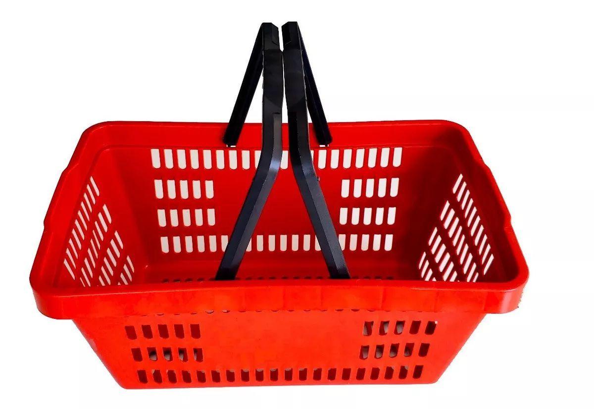 Cesta Plástica Para Mercados Della Plast D-50 Vermelho 6,5 Litros
