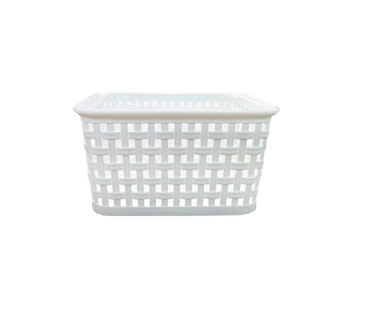 Cesto Plástico Multiuso Arca Plast Italy Branco 2,1 Litros