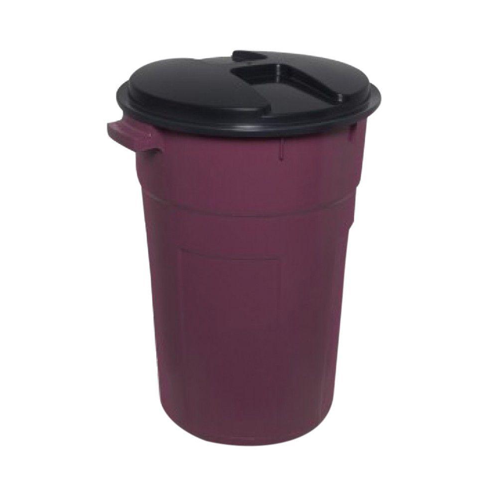 Cesto Plástico Para Roupas 100 L Vinho Plastex