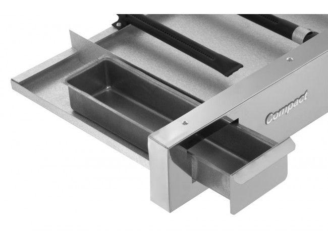 Chapa Bifeteira Compact Cold Slim CBS60 2 Queimadores 60x50 cm Baixa Pressão GLP