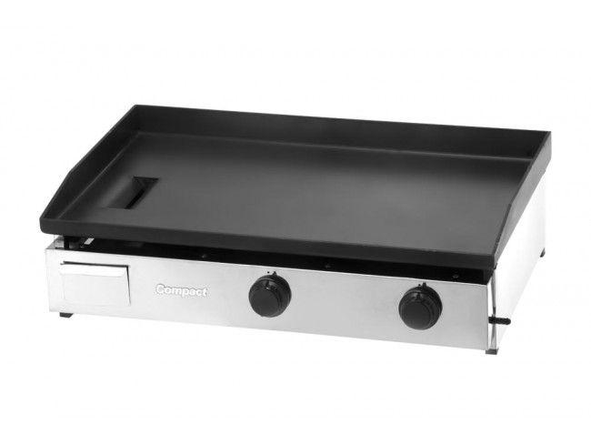 Chapa Bifeteira Compact Cold Slim CBS80 2 Queimadores 80x50 cm Baixa Pressão GLP