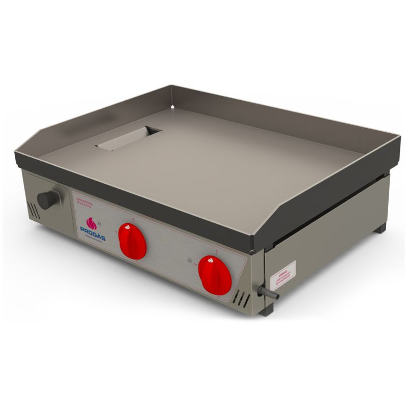 Chapa Bifeteira Progás PR-650G 2 Queimadores Inox Gás GLP